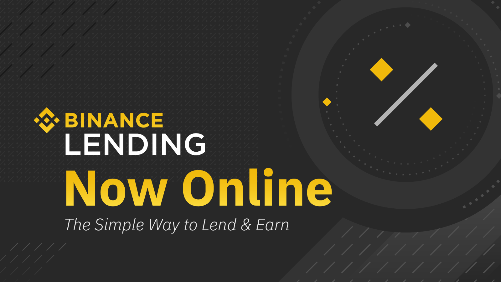 Binance Lending - lokaty w kryptowalutach do 15%