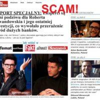 Robert Lewandowski i Kuba Wojewódzki – wizerunek użyty w oszustwie