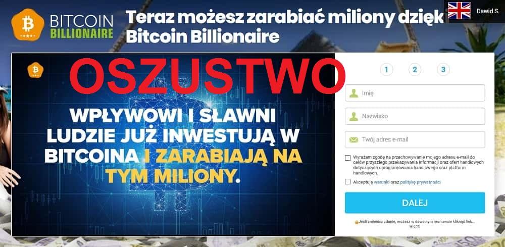 Bitcoin Billionaire – strona obiecująca miliony – OSZUSTWO!