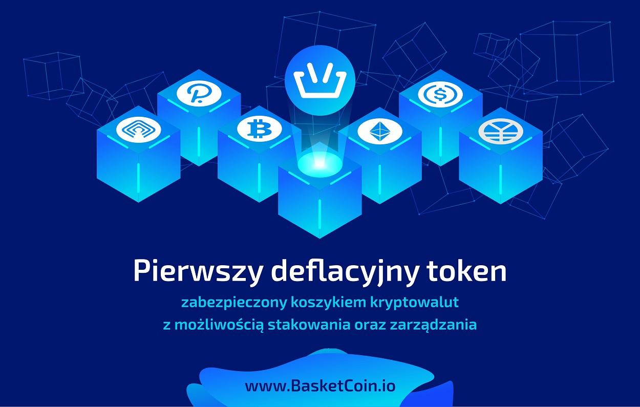 BasketCoin - Pierwszy deflacyjny token zabezpieczony koszykiem kryptowalut z możliwością stakowania oraz zarządzania