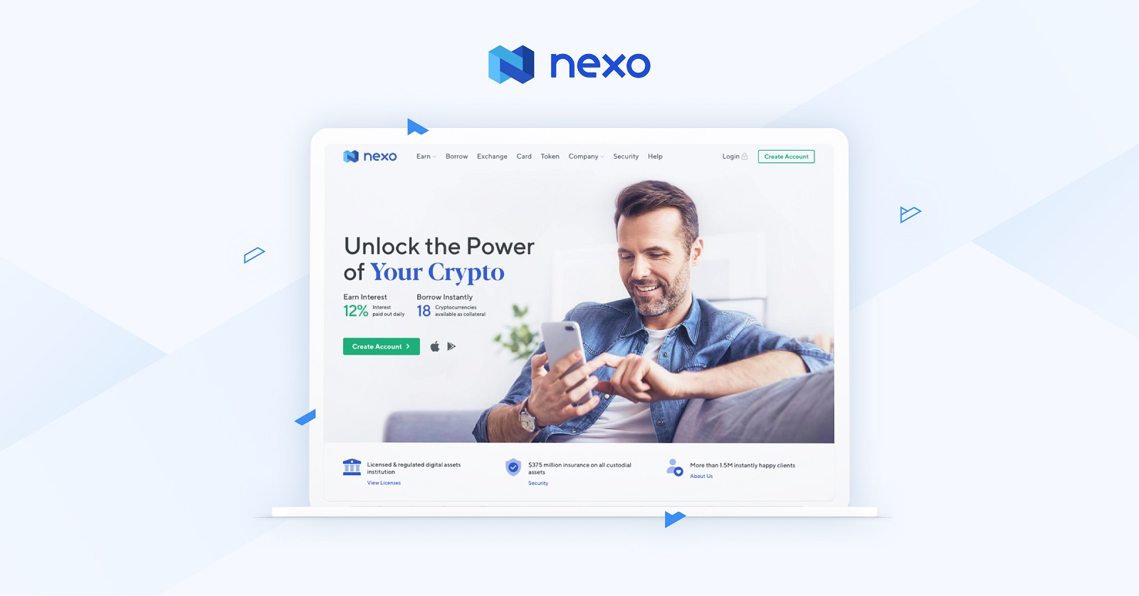 Nexo.io - oszczędzaj i zarabiaj wysokie odsetki na lokatach krypto